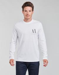 Vêtements Homme T-shirts manches longues Armani Exchange 8NZTPL Blanc