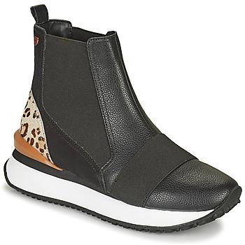 Chaussures Femme Baskets montantes Gioseppo LUNNER Noir / Leopard