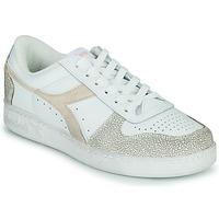 Chaussures Femme Baskets basses Diadora MAGIC BASKET LOW ICONA WN Blanc / Rose