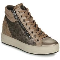 Chaussures Femme Baskets montantes IgI&CO DONNA SHIRLEY Beige / Doré