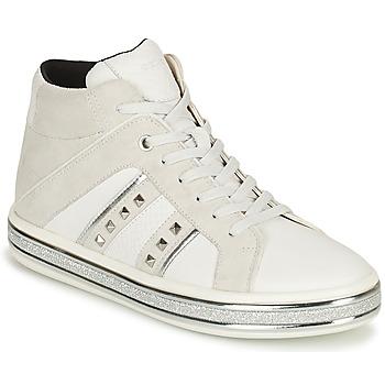 Chaussures Femme Boots Geox LEELU Blanc / Gris