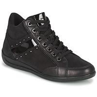 Chaussures Femme Baskets montantes Geox MYRIA Noir