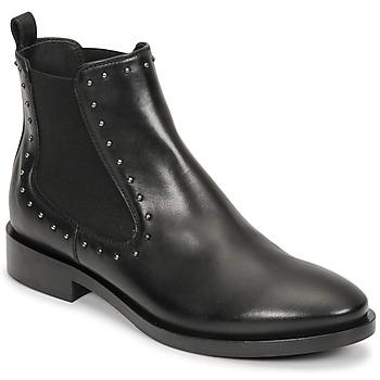 Chaussures Femme Bottines Geox BROGUE Noir