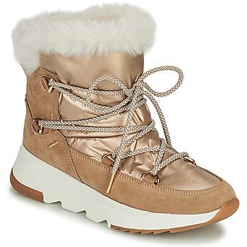 Chaussures Femme Bottes de neige Geox FALENA Beige / Doré