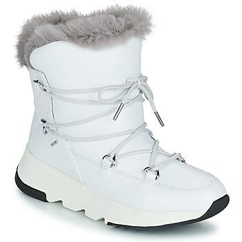 Chaussures Femme Bottes de neige Geox FALENA ABX Blanc