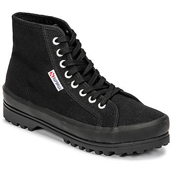 Chaussures Femme Baskets montantes Superga 2341 ALPINA COTU Noir