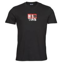 Vêtements Homme T-shirts manches courtes Diesel T-DIEGOS-B10 Noir