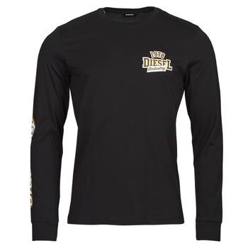Vêtements Homme T-shirts manches longues Diesel T-DIEGOS-LS-K27 Noir