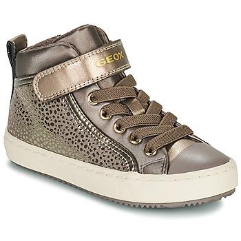 Chaussures Fille Baskets montantes Geox KALISPERA Doré