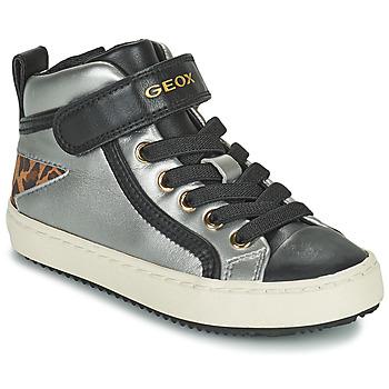 Chaussures Fille Baskets montantes Geox KALISPERA Argenté