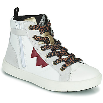 Chaussures Fille Baskets montantes Geox SILENEX Blanc