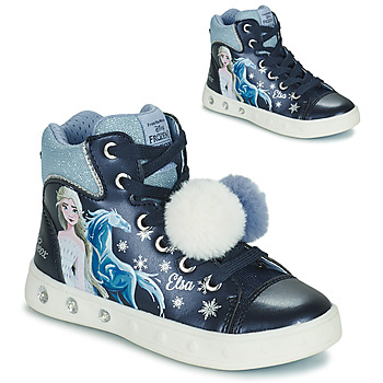 Chaussures Fille Baskets montantes Geox SKYLIN Marine