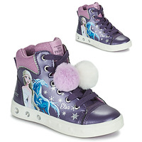 Chaussures Fille Baskets montantes Geox SKYLIN Violet