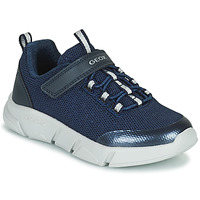 Chaussures Fille Baskets basses Geox ARIL Bleu