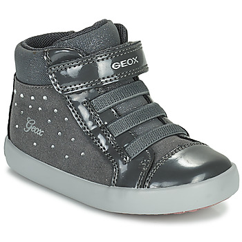 Chaussures Fille Baskets montantes Geox GISLI Gris