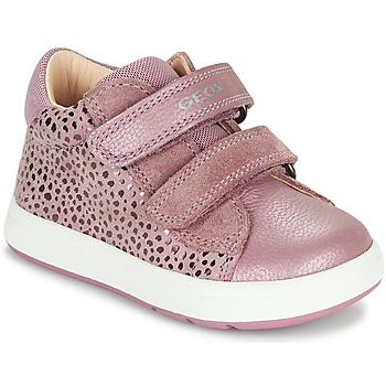 Chaussures Fille Baskets basses Geox BIGLIA Rose