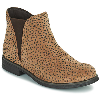Chaussures Fille Boots Geox AGATO Marron