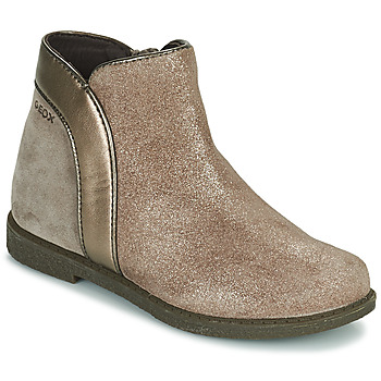 Chaussures Fille Boots Geox SHAWNTEL Doré