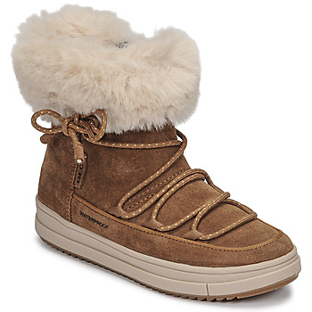 Chaussures Fille Boots Geox REBECCA WPF Camel