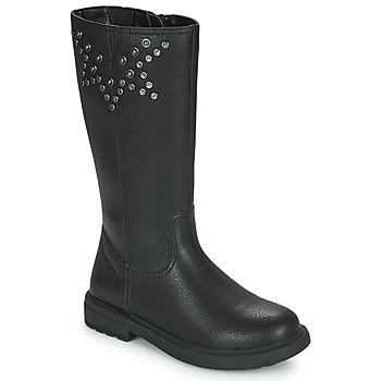 Chaussures Fille Bottes ville Geox ECLAIR Noir