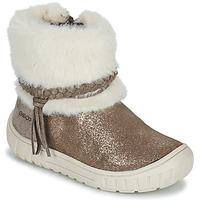Chaussures Fille Bottes ville Geox OMAR Marron