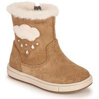 Chaussures Fille Bottes ville Geox TROTTOLA Marron