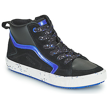 Chaussures Garçon Baskets montantes Geox ALONISSO Noir / Marine