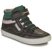 Chaussures Garçon Baskets montantes Geox GISL Noir / Vert