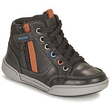 Chaussures Garçon Baskets montantes Geox POSEIDO Marron