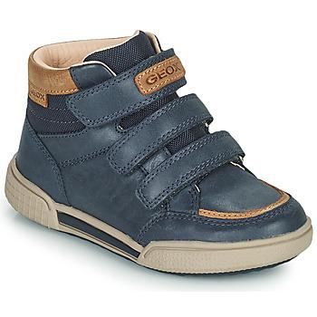 Chaussures Garçon Baskets montantes Geox POSEIDO Marine