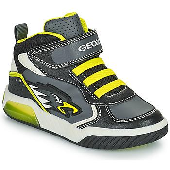 Chaussures Garçon Baskets montantes Geox INEK Gris / Vert