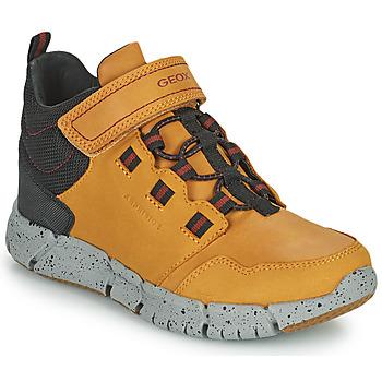 Chaussures Garçon Boots Geox FLEXYPER ABX Marrron