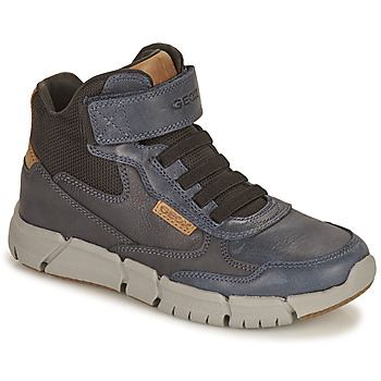 Chaussures Garçon Boots Geox FLEXYPER Marine / Camel