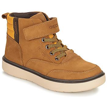 Chaussures Garçon Boots Geox RIDDOCK WPF Camel
