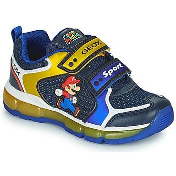 Chaussures Garçon Baskets basses Geox ANDROID Bleu / Jaune