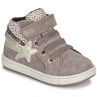 Chaussures Fille Baskets montantes Geox TROTTOLA Beige