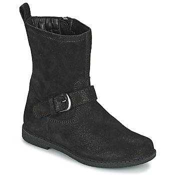 Chaussures Fille Bottes ville Geox SHAWNTEL Noir