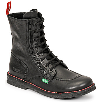 Chaussures Femme Bottes ville Kickers MEETICKZIP Noir mat