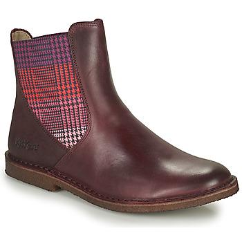 Chaussures Femme Boots Kickers TINTO Bordeaux foncé