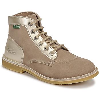 Chaussures Femme Boots Kickers ORILEGEND Beige