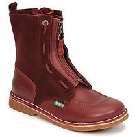 Chaussures Femme Boots Kickers MEETICKROCK Bordeaux foncé