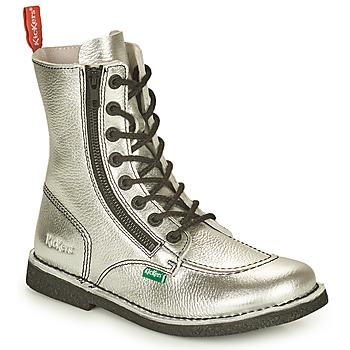 Chaussures Femme Boots Kickers MEETICKZIP Argent