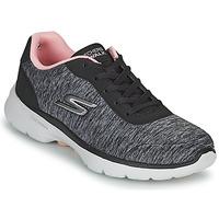 Chaussures Femme Baskets basses Skechers GO WALK 6 Gris / Rose