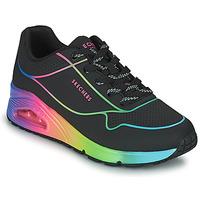 Chaussures Femme Baskets basses Skechers UNO Noir / Multicolore