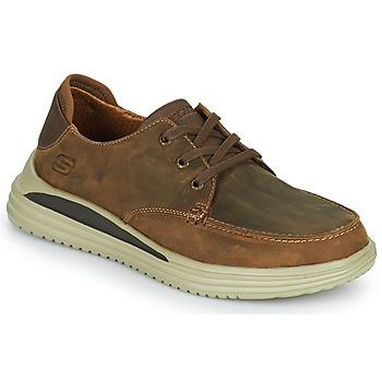 Chaussures Homme Baskets basses Skechers PROVEN Marron