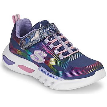 Chaussures Fille Baskets basses Skechers GLOW-BRITES Marine / LED