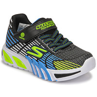 Chaussures Garçon Baskets basses Skechers FLEX-GLOW ELITE Noir / Bleu / LED