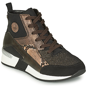 Chaussures Femme Baskets montantes Rieker MANKA Noir / Marron