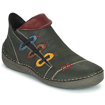 Chaussures Femme Boots Rieker GIMMA Vert / Rouge / Jaune