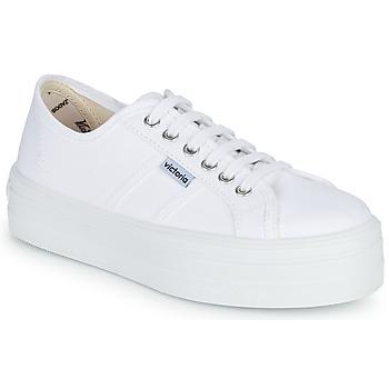 Chaussures Air max tnFemme Baskets basses Victoria BLUCHER LONA PLATAFORMA Blanc